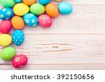Colorful Easter Eggs And Branc...