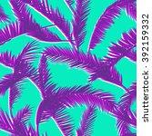 tropical leaves  dense jungle.... | Shutterstock .eps vector #392159332