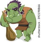 vector cartoon troll | Shutterstock .eps vector #392198866