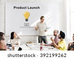 new product launch marketing... | Shutterstock . vector #392199262