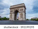 arc de triomphe in paris  france | Shutterstock . vector #392199295