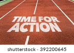 time for action written on... | Shutterstock . vector #392200645