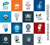illustration of the brain.... | Shutterstock .eps vector #392205322