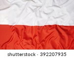 national flag of poland for a... | Shutterstock . vector #392207935