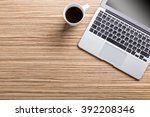 working place with laptop | Shutterstock . vector #392208346