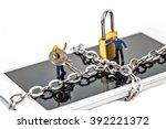 selective focus of miniature on ...   Shutterstock . vector #392221372