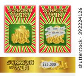 templates scratch tickets to... | Shutterstock .eps vector #392224126