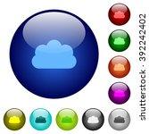 set of color cloud glass web...