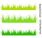 vector file of green grass | Shutterstock .eps vector #392243998