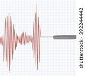 lie detector test.vector... | Shutterstock .eps vector #392244442