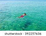 Man Swimming In The Aegean Sea...