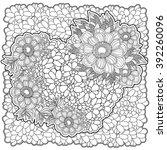 vector floral romantic pattern... | Shutterstock .eps vector #392260096