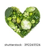 Heart Of Green Fruits And...