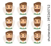 Beard Man Emotions And Avatar...