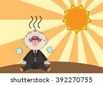 exhausted businessman is... | Shutterstock .eps vector #392270755