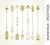 tribal elements collection.... | Shutterstock .eps vector #392273326