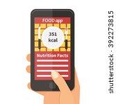 diet food application on... | Shutterstock .eps vector #392273815