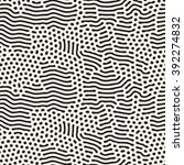 vector seamless black and white ... | Shutterstock .eps vector #392274832