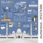 islam infographic. muslim... | Shutterstock .eps vector #392276386