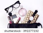 overhead shot. fashion... | Shutterstock . vector #392277232