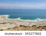 landscape of the dead sea ... | Shutterstock . vector #392277802