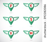 world currency signs in... | Shutterstock .eps vector #392282086