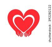 hands forming a heart symbol | Shutterstock .eps vector #392282122