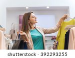 sale  fashion  consumerism and... | Shutterstock . vector #392293255