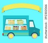 Vector Illustration Of Truck...