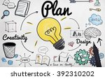 advertise plan idea creativity... | Shutterstock . vector #392310202