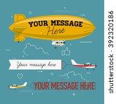 cool set of vector planes... | Shutterstock .eps vector #392320186
