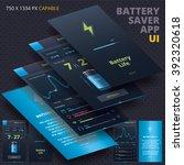 battery saver application for... | Shutterstock .eps vector #392320618