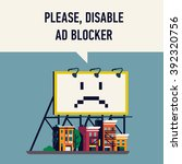 'please  disable ad blocker'... | Shutterstock .eps vector #392320756
