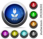 set of round glossy eco energy...
