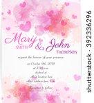 wedding invitation template... | Shutterstock .eps vector #392336296