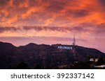 los angeles  circa 2015 ... | Shutterstock . vector #392337142
