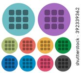 color small grid view flat icon ...