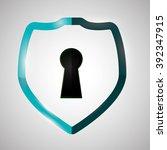 security system design    Shutterstock .eps vector #392347915