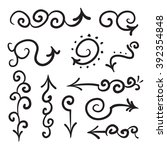 arrows vector hand drawn set... | Shutterstock .eps vector #392354848