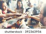team unity friends meeting... | Shutterstock . vector #392363956