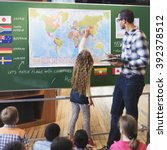 classroom learning geography... | Shutterstock . vector #392378512