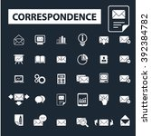 correspondence icons  | Shutterstock .eps vector #392384782