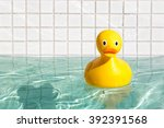 Yellow Ducky In The Swimming...