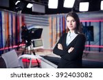 news writing and reporting... | Shutterstock . vector #392403082