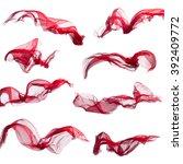 elegant smooth satin isolated... | Shutterstock . vector #392409772