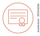 certificate line icon. | Shutterstock .eps vector #392416306