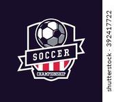 soccer logo  american logo... | Shutterstock .eps vector #392417722