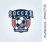 soccer logo  american logo... | Shutterstock .eps vector #392417725