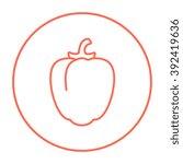 bell pepper line icon. | Shutterstock .eps vector #392419636