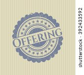 offering with rubber seal... | Shutterstock .eps vector #392433592